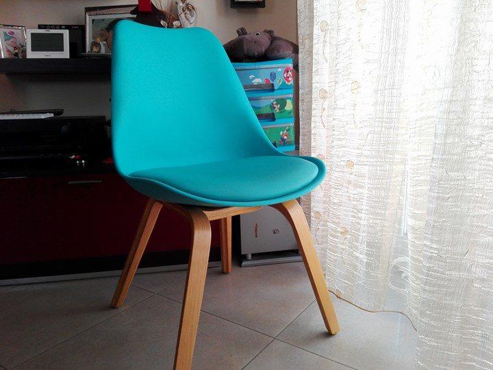 Sedie Ufficio Blu : La sedia di design la mia tulipano blu a spasso con bea