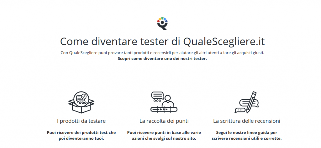 Community tester QualeScegliere.it