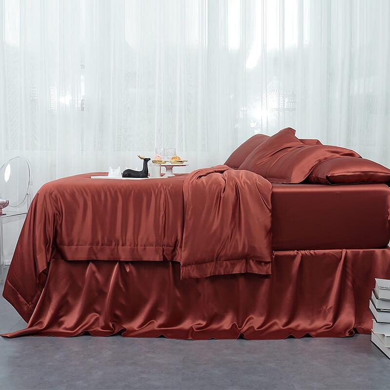 Set letto pura seta orange