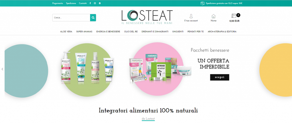 Losteat e-commerce
