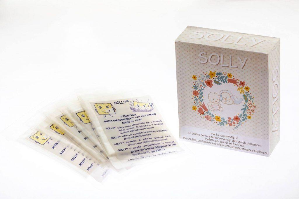 Solly, buste idrosolubili per la biancheria sporca dei bambini