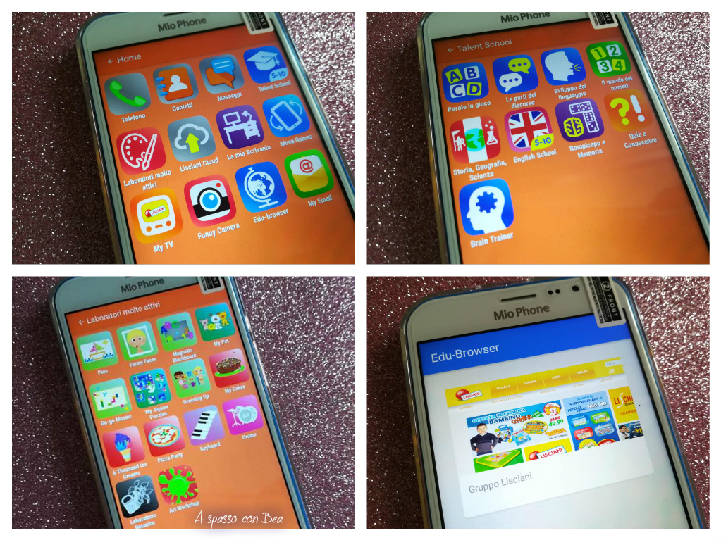 """Lo smartphone adatto ai bambini: Mio Phone 5"""" Lisciani"""