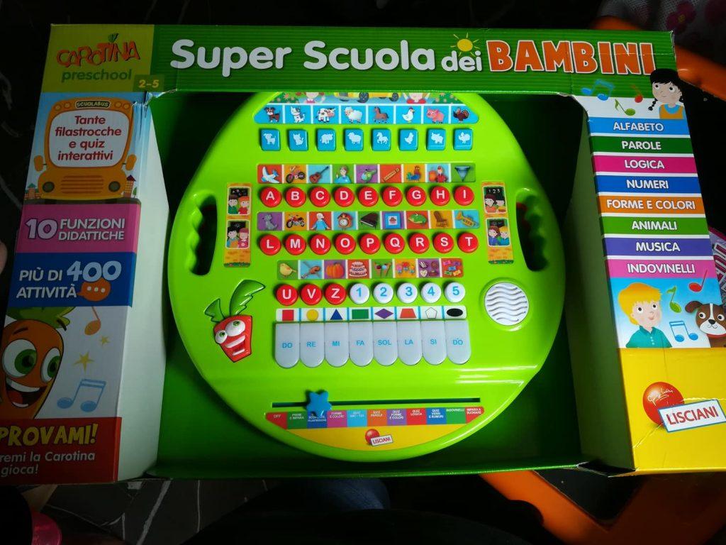 Giochi parlanti: CAROTINA SUPER SCUOLA DEI BAMBINI