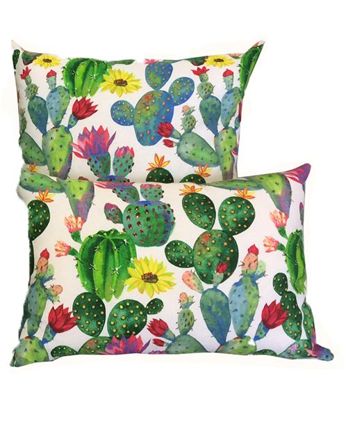 cuscini con cactus