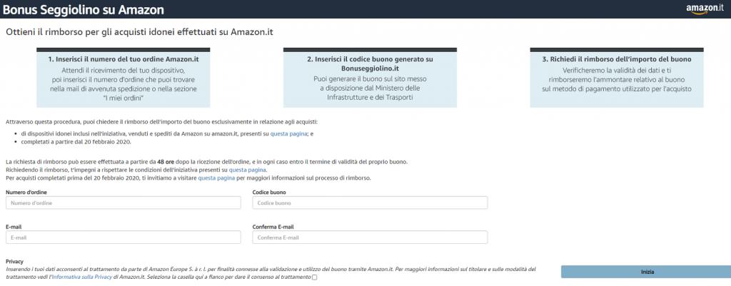 Come usare il bonus seggiolino su Amazon