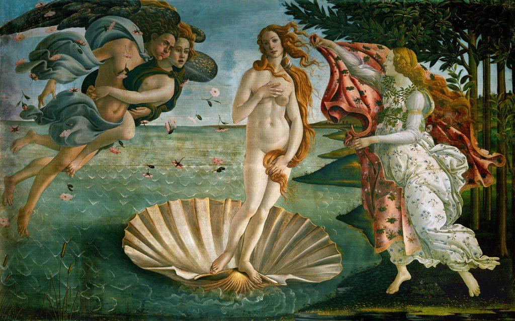 Cinque quadri famosi: Nascita di Venere, Botticelli